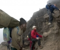 De Barranco Camp ( 3950 m) à Barafu Camp (4600 m) - Ascension du Kilimandjaro - Tanzanie